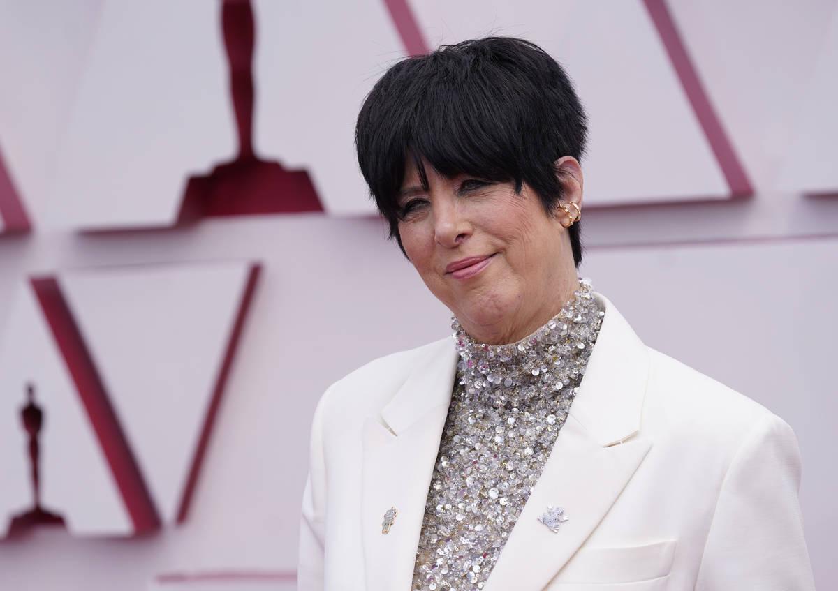 Diane Warren llega a los Oscars el domingo, 25 de abril de 2021, Union Station Los Ángeles. (A ...