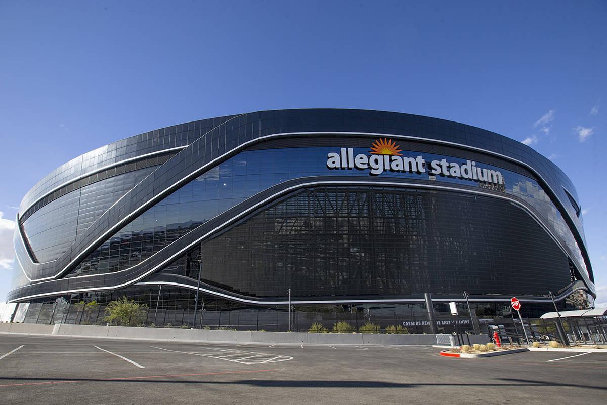 Allegiant Stadium el sábado, 12 de diciembre de 2020, en Las Vegas. (Ellen Schmidt/Las Vegas R ...