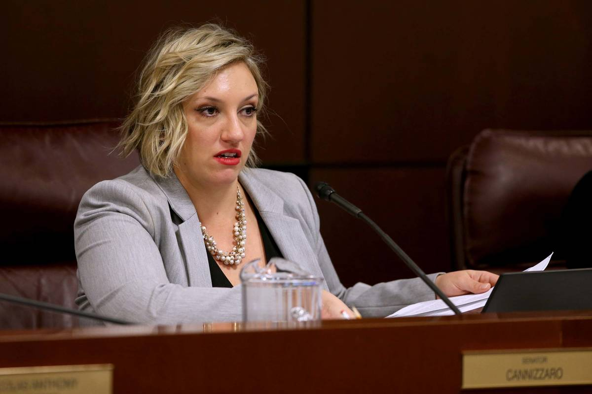 La senadora Nicole Cannizzaro, demócrata por Las Vegas. (K.M. Cannon/Las Vegas Review-Journal) ...