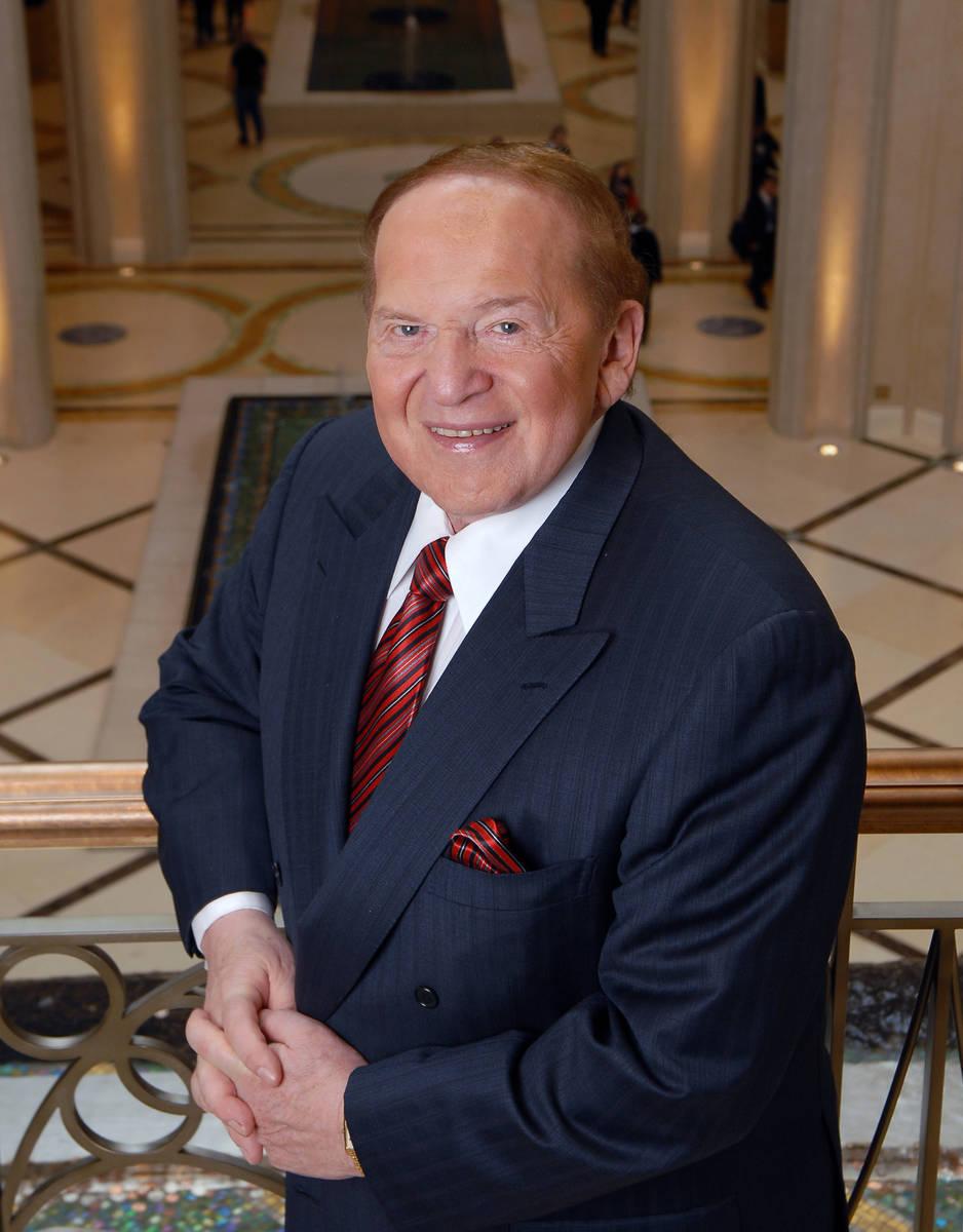 El presidente y director ejecutivo de Las Vegas Sands Corp., Sheldon Adelson, en el Palazzo el ...