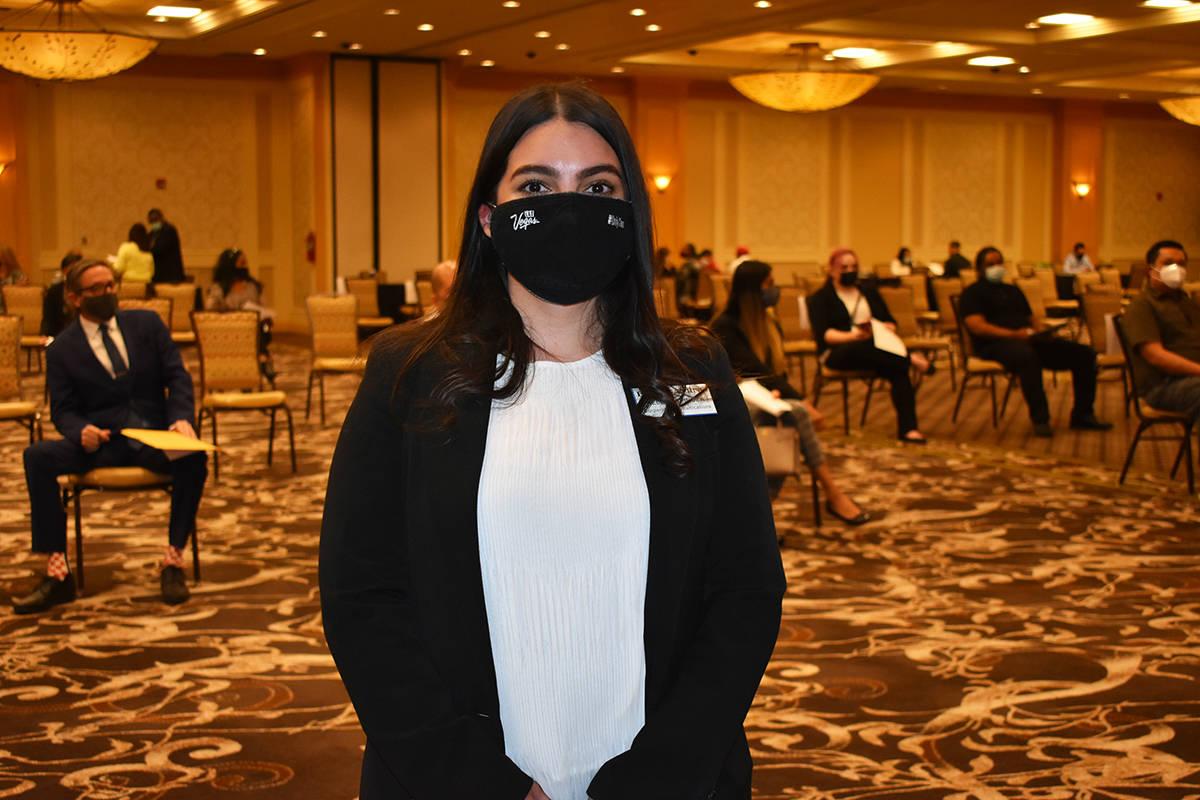 La especialista de comunicación de Boyd Gaming, Kelly Espinoza, informó sobre los puestos de ...
