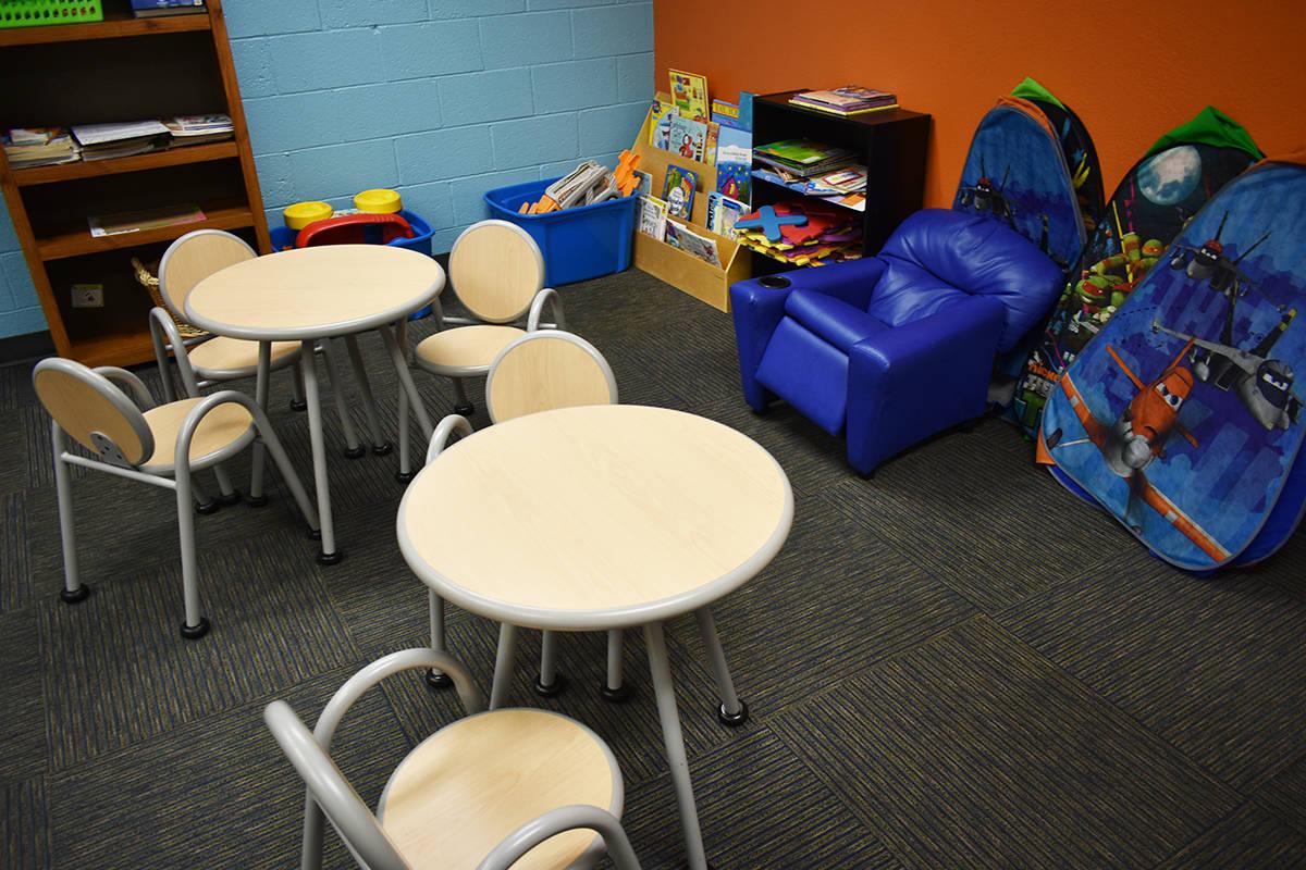 Family Justice Center cuenta con un área donde pueden permanecer los niños mientras su famili ...