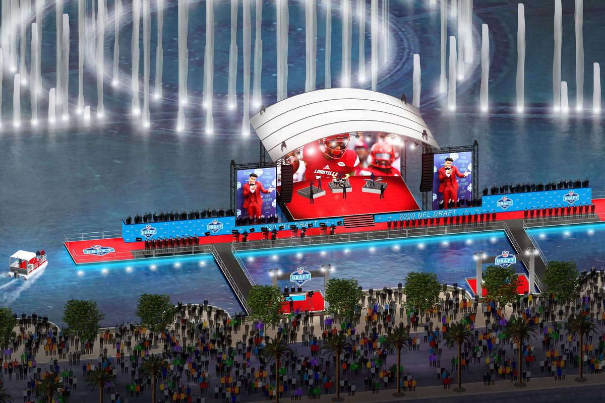 La próxima fila de estrellas de la NFL se exhibirá en las fuentes del Bellagio antes de ser l ...