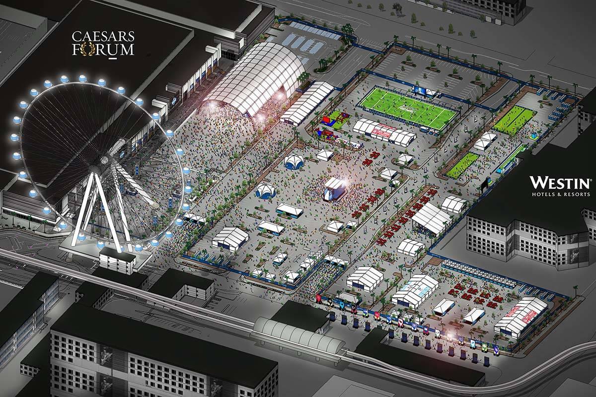 Representación de los planes para el Draft de la NFL de 2020 en Las Vegas. (NFL)