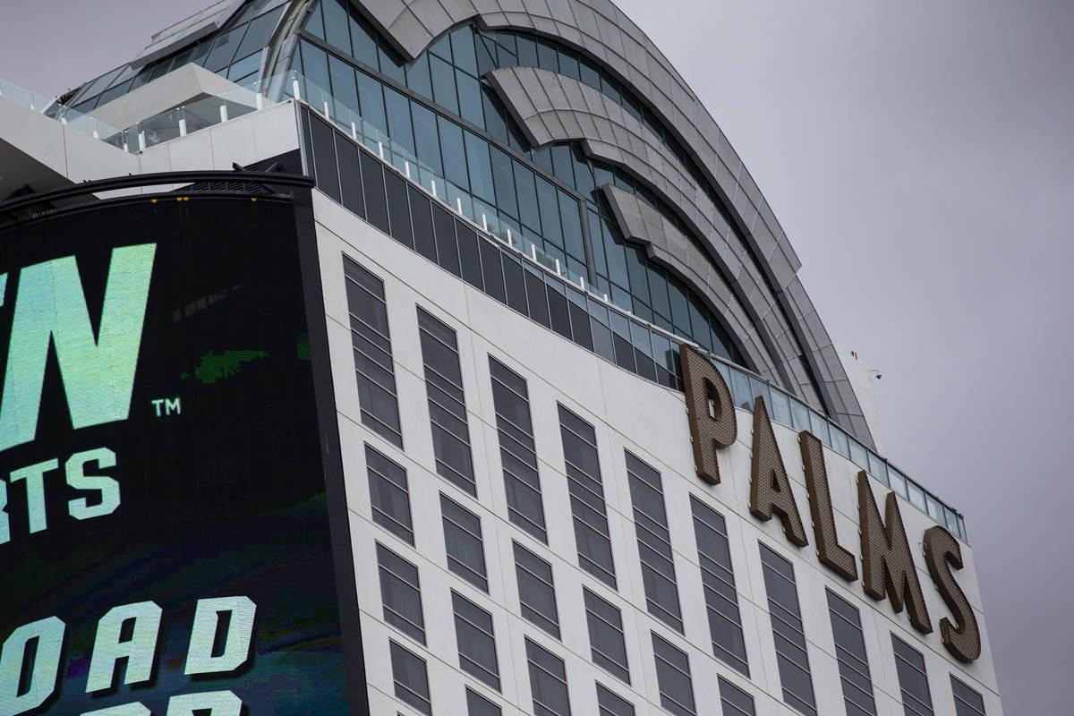 Una vista exterior del Palms Las Vegas el lunes, 26 de abril de 2021. (Chase Stevens/Las Vegas ...