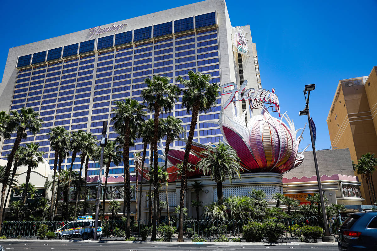 El Flamingo en el Strip de Las Vegas el lunes, 3 de mayo de 2021. (Rachel Aston/Las Vegas Revie ...