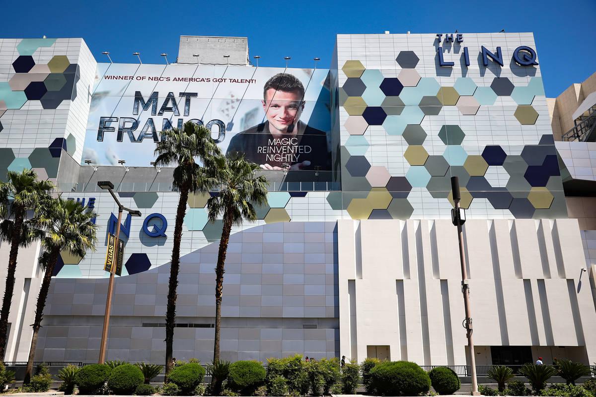 The Linq Hotel en el Strip de Las Vegas el lunes, 3 de mayo de 2021. (Rachel Aston/Las Vegas Re ...