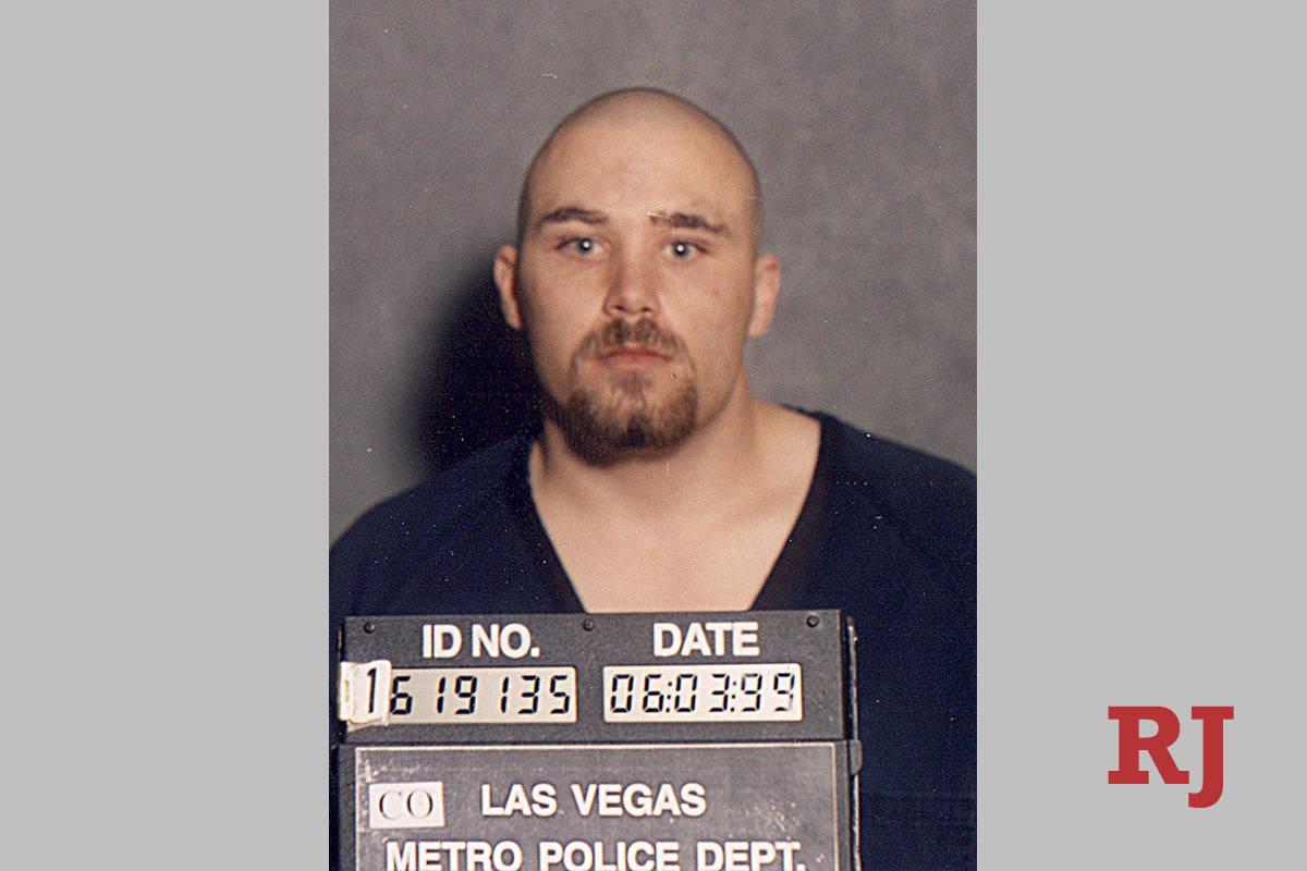 Foto policial de Zane Floyd tras su tiroteo en 1999 (LVMPD).