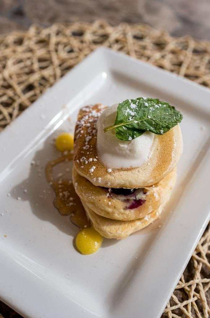 Pancakes de Blueberry-limón en Reflection Bay. (Reflection Bay)