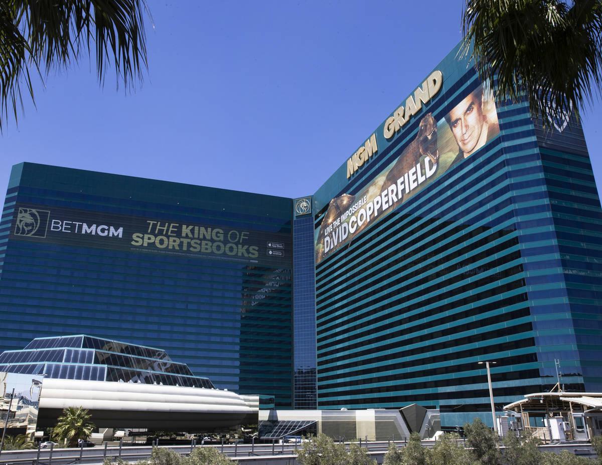 El MGM Grand fotografiado el martes, 27 de abril de 2021, en Las Vegas. (Bizuayehu Tesfaye/Las ...