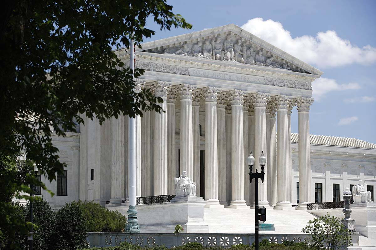 El Tribunal Supremo en el Capitolio en Washington. (AP Photo/Patrick Semansky)