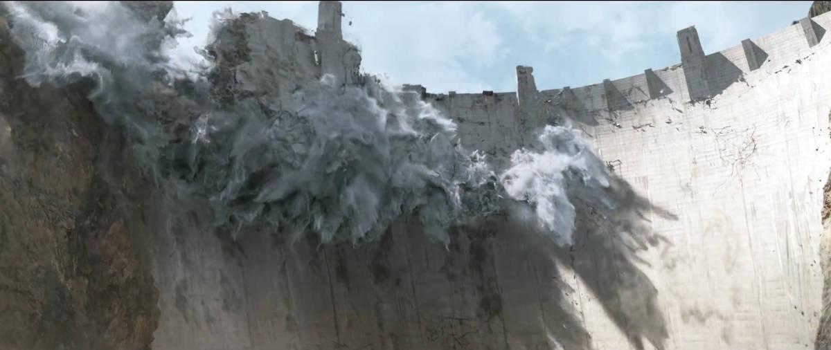 """La presa Hoover es destruida en una escena de """"San Andreas"""". (Warner Bros. Pictures)"""