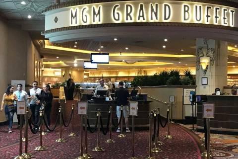 El MGM Grand Buffet en Las Vegas reabrirá el 26 de mayo. (Ellen Schmidt/Las Vegas Review-Journal)