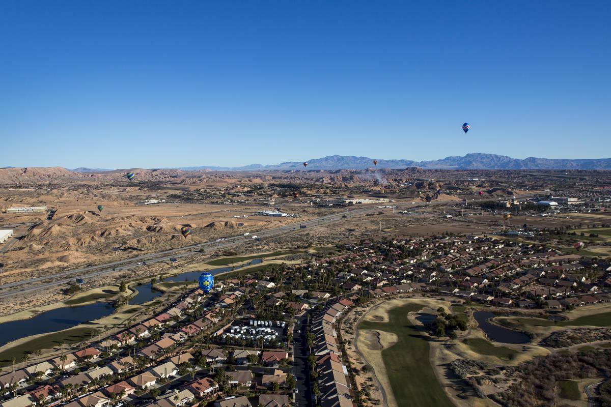 Esta foto del 26 de enero de 2018 muestra una vista aérea de Mesquite. (Las Vegas Review-Journ ...