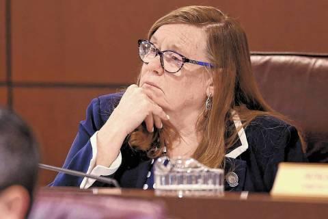 La asambleísta Maggie Carlton, demócrata de Las Vegas, vista en el edificio legislativo en Ca ...