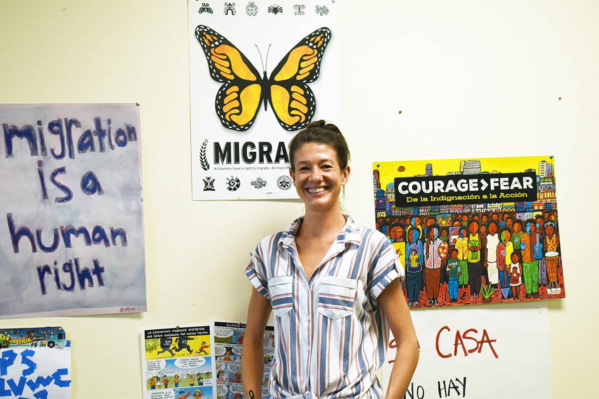 """Bliss Requa-Trautz es directora de la organización """"Arriba Las Vegas Workers Center"""", habl ..."""