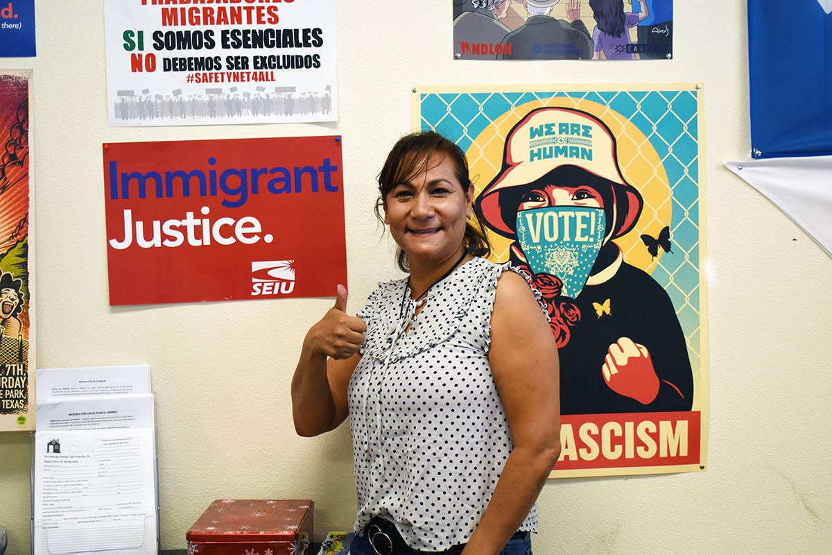 Georgina Guerrero, trabajadora de limpieza de casas, forma parte de Arriba Las Vegas Workers Ce ...