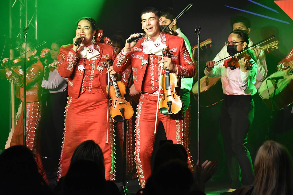 El Mariachi Joya de Las Vegas High School protagonizó un concierto para promocionar el lanzami ...