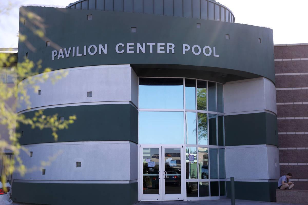 La Pavilion Center Pool en Las Vegas el jueves, 10 de junio de 2021. (Erik Verduzco / Las Vegas ...