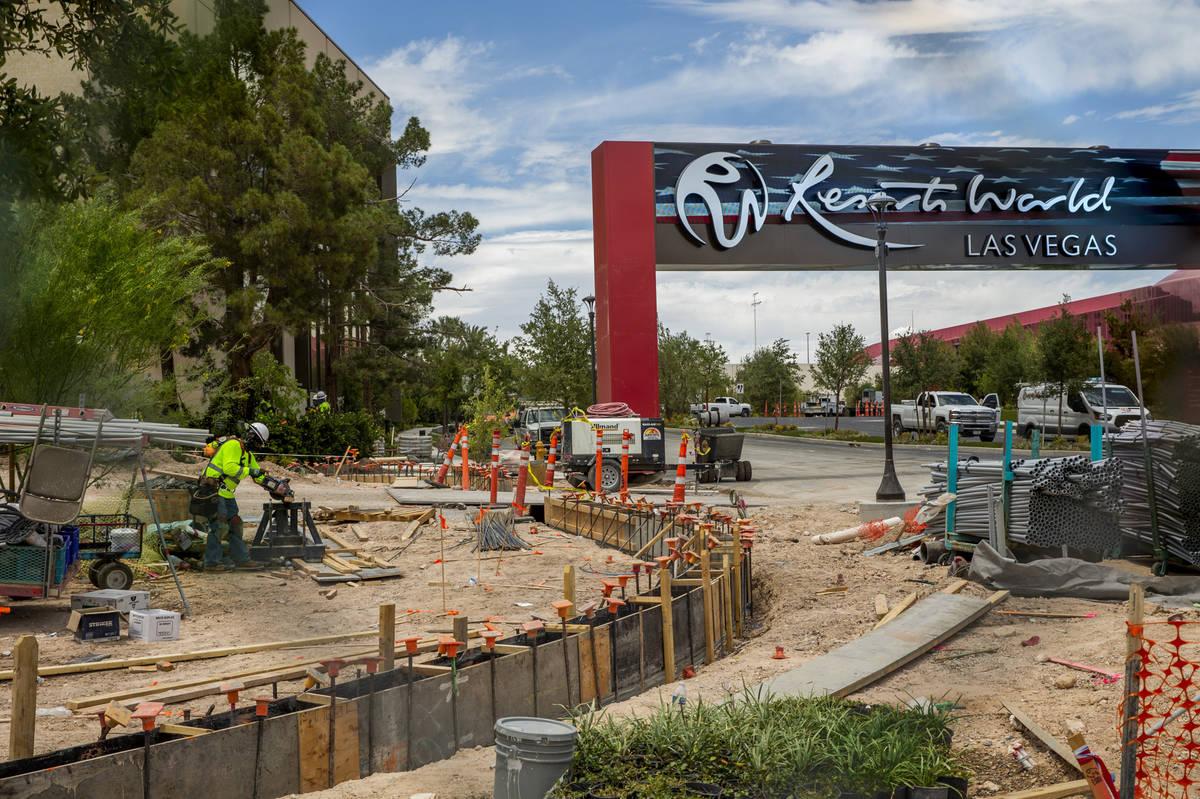 La construcción de Resorts World Las Vegas continúa el miércoles, 9 de junio de 2021 en Las ...