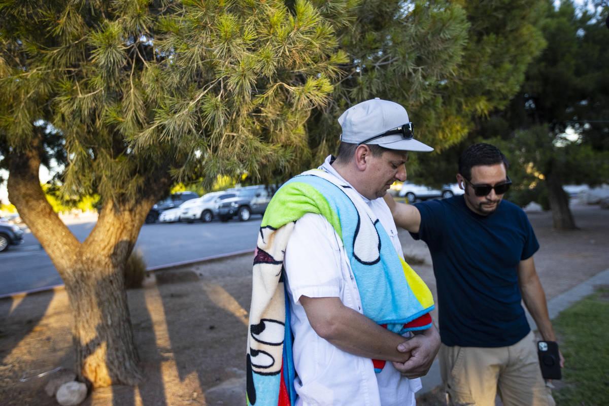 Nicholas Husted, de San José, California, cuyo hijo, Liam Husted, fue encontrado asesinado cer ...