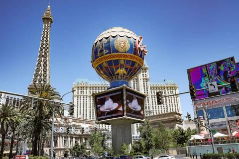Paris Las Vegas en el Strip el lunes, 3 de mayo de 2021. (Rachel Aston/Las Vegas Review-Journal ...