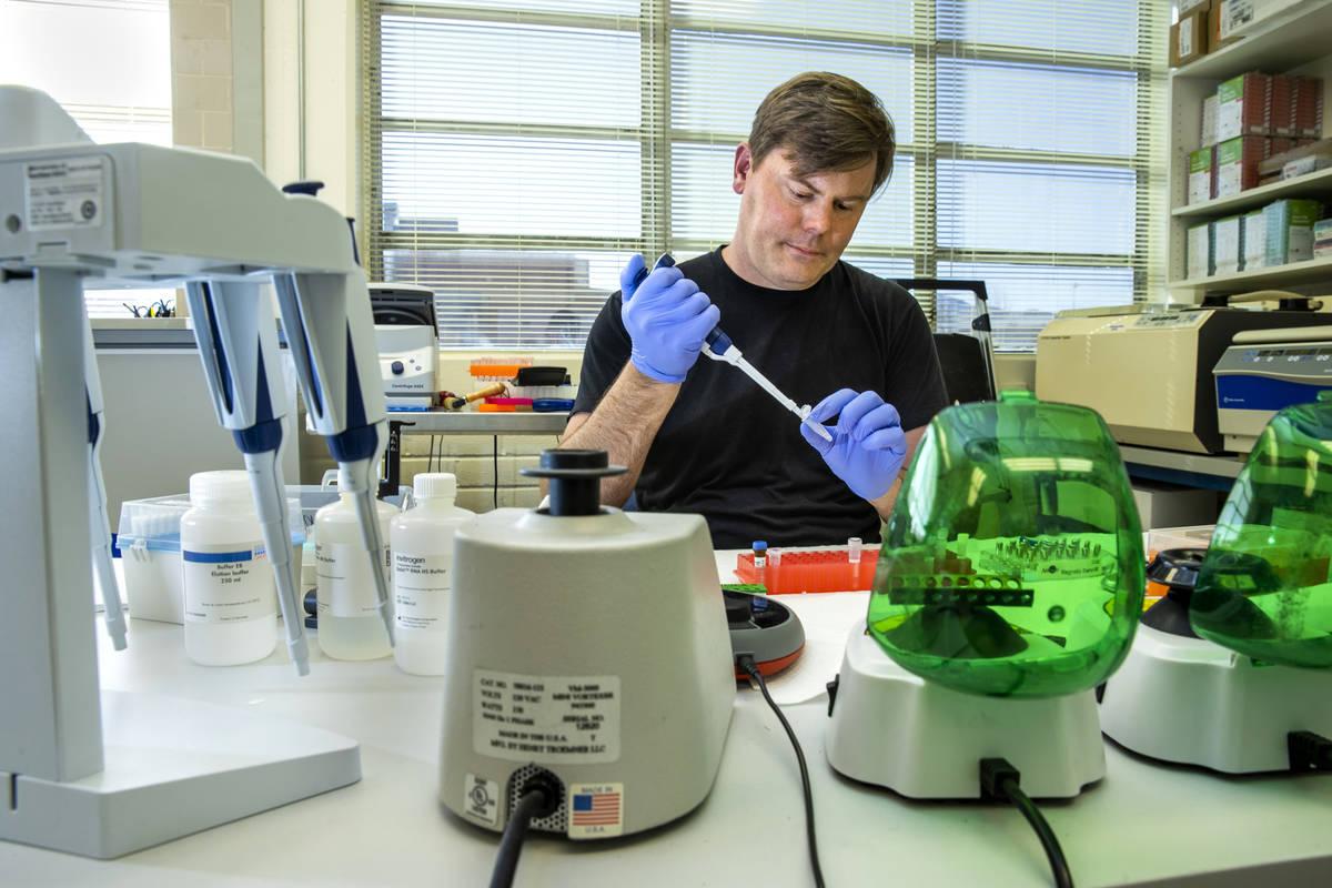 El director del Nevada Genomics Center, Paul Hartley, fue el primero en secuenciar muestras de ...