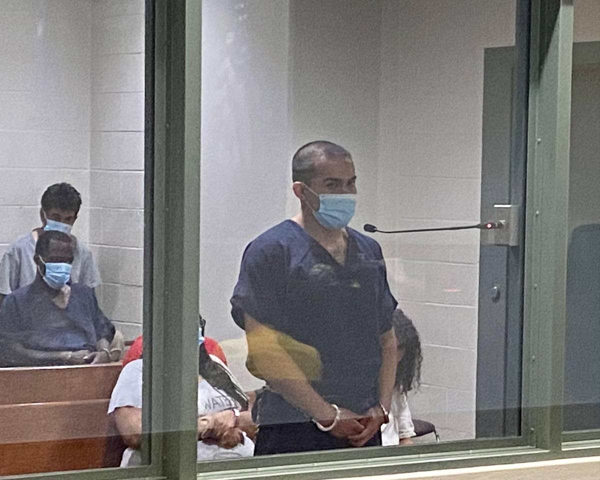 Anthony Balderas, acusado de asesinato, comparece en el Tribunal de Justicia de Las Vegas el 28 ...