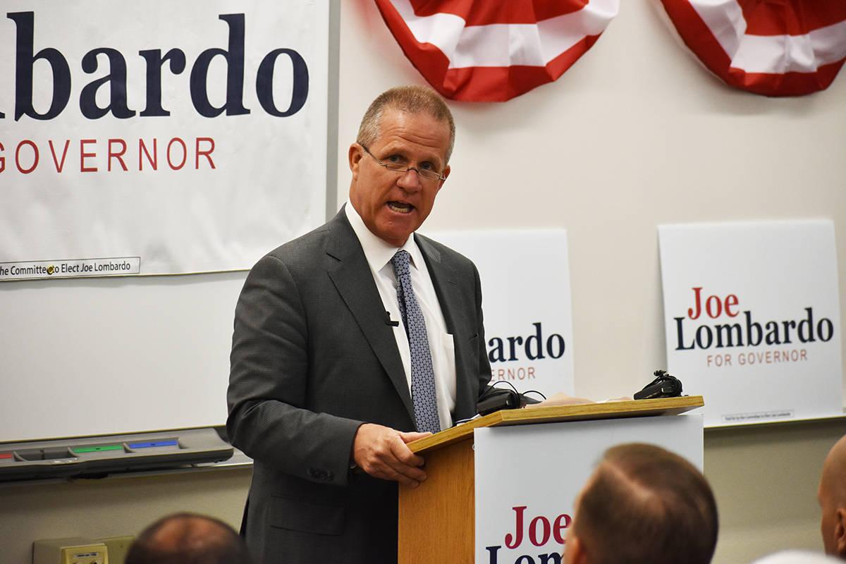 El ex-vicegobernador de Nevada, Mark Hutchison, externó su apoyo a la postulación de Joe Lomb ...