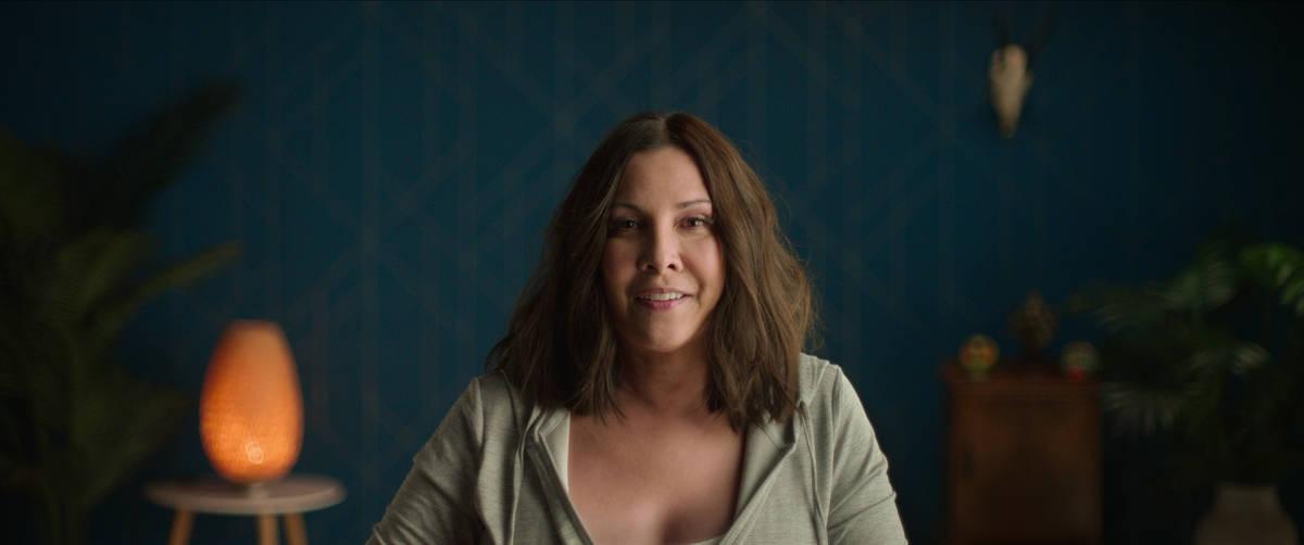 """Lisa Lord interpreta a Heather Tallchief durante las partes de la entrevista de """"Heist"""". (Netflix)"""