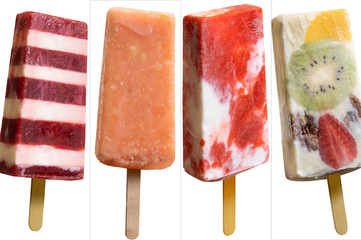 Desde la izquierda: Rasperry y queso crema, guayaba, fresas con crema, fruta y queso crema. (Be ...