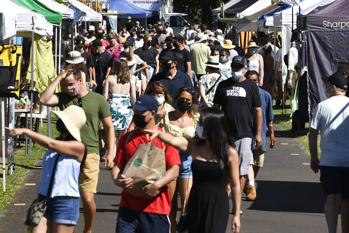 El Maui Swap Meet atascado por segunda semana tras su reapertura en el University of Hawaii Mau ...