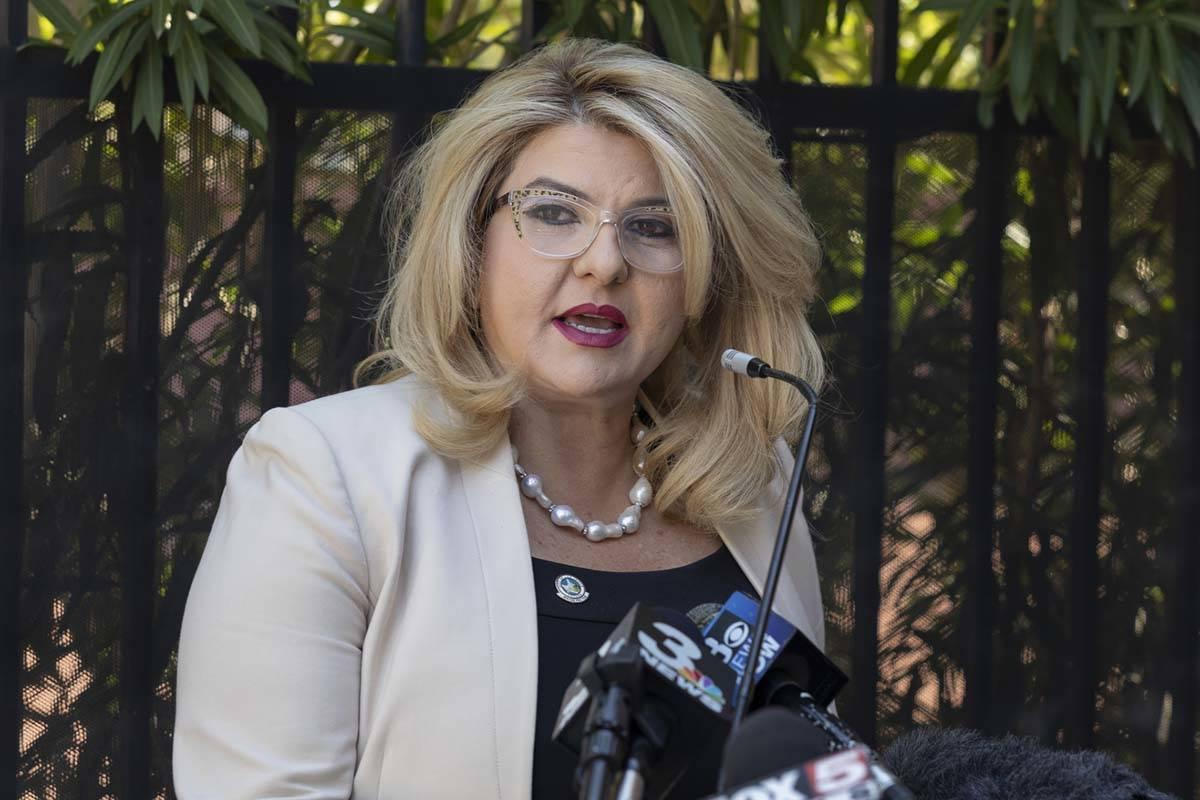 La concejala de Las Vegas Michele Fiore durante una rueda de prensa en agosto de 2020. (Las Veg ...