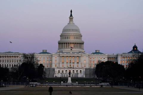 El edificio del Capitolio de Estados Unidos en marzo de 2021 en Washington. (AP Photo/Alex Brandon)