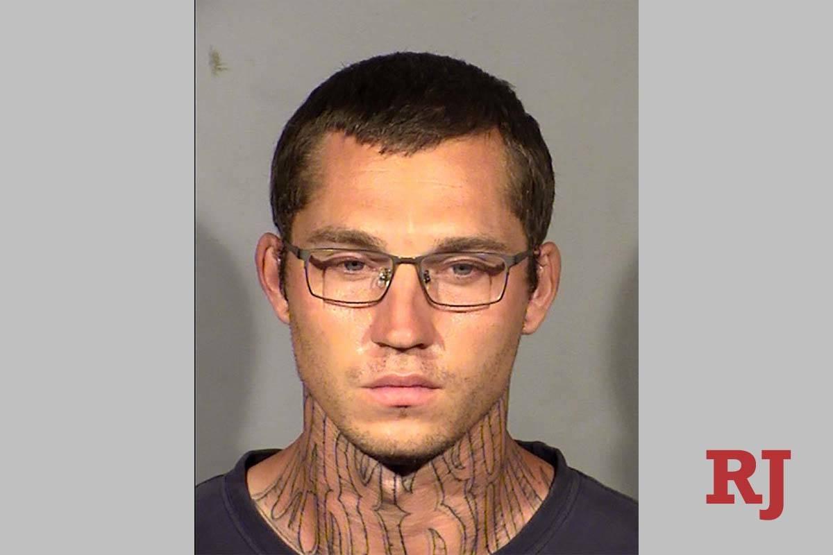 Justin Wenz está acusado de robo y agresión sexual. (LVMPD)