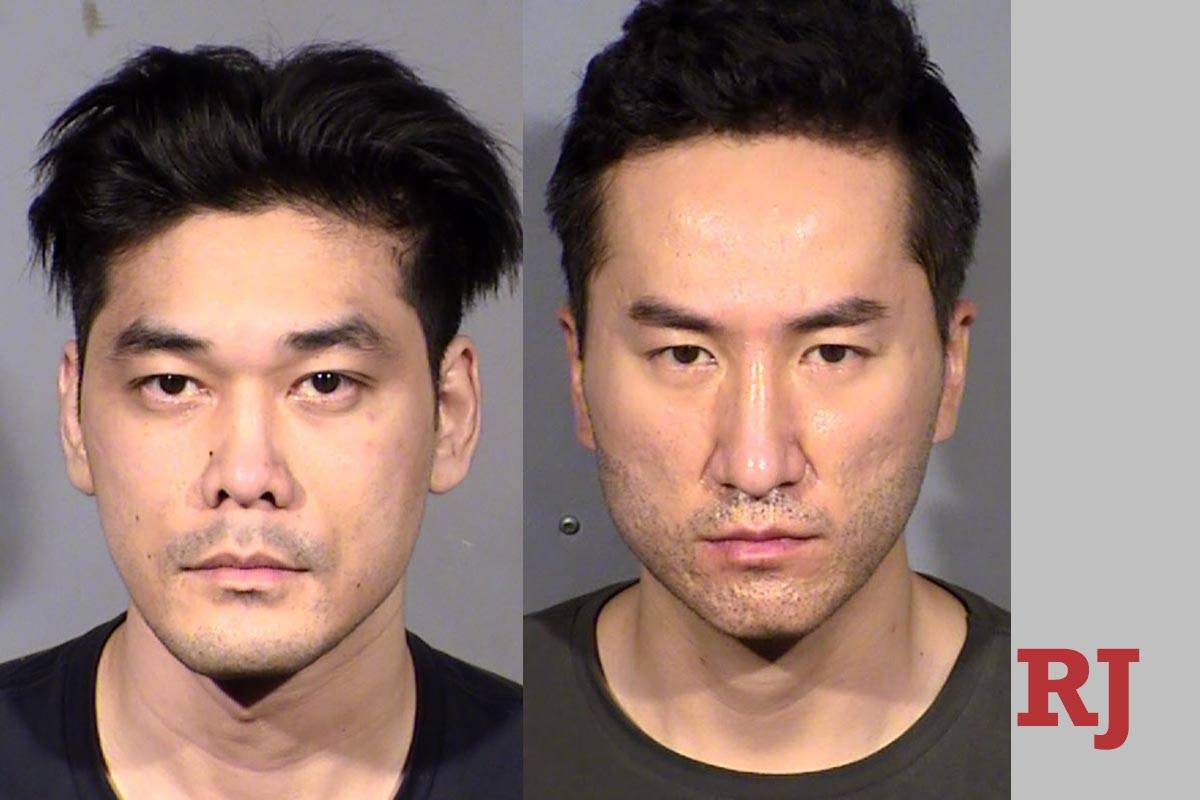 Daniel Dinh, izquierda, y Kenneth Jeon (LVMPD).