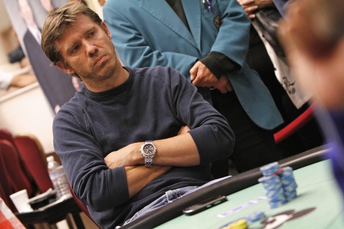 Layne Flack juega en un evento del World Poker Tour en 2011. (World Poker Tour)