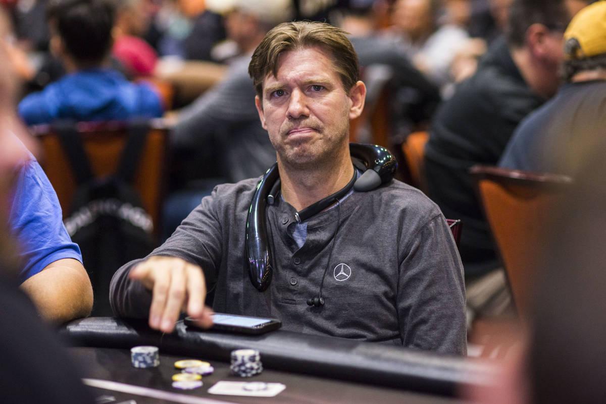 Layne Flack juega en un evento del World Poker Tour en Durant, Oklahoma, en 2018. (Joe Giron/Wo ...