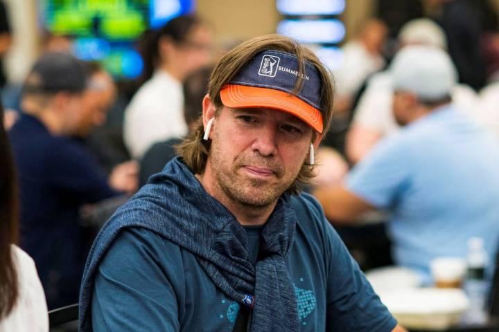 Layne Flack juega en un evento del World Poker Tour en el Borgata de Atlantic City en 2020. (Wo ...