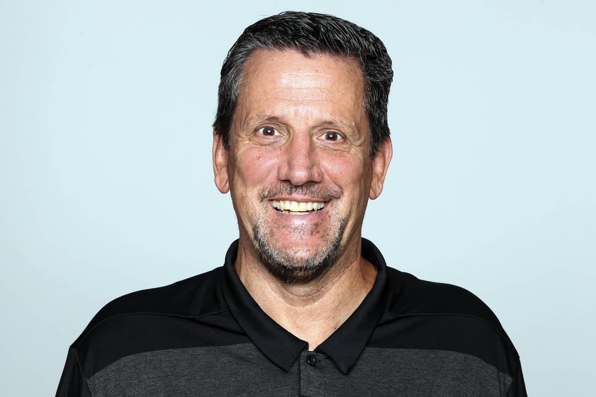Una foto de archivo de 2019 muestra a Greg Knapp, del equipo de fútbol americano de los Atlant ...