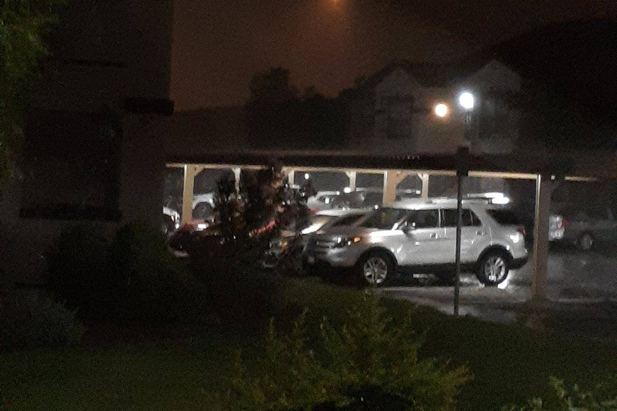 High winds, lightning and rain were being felt across much of the Las Vegas Valley as a line of ...