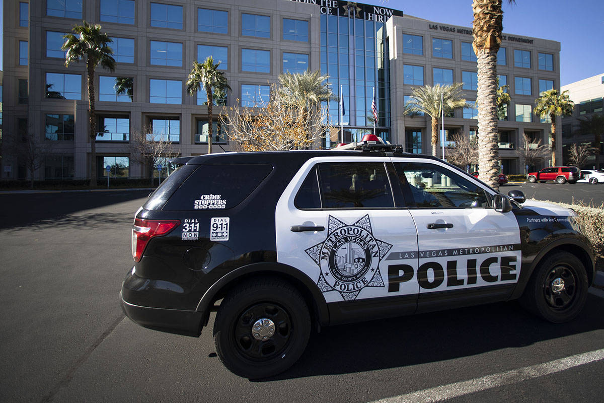 Departamento de Policía Metropolitana (Bizuayehu Tesfaye/Las Vegas Review-Journal) @bizutesfaye