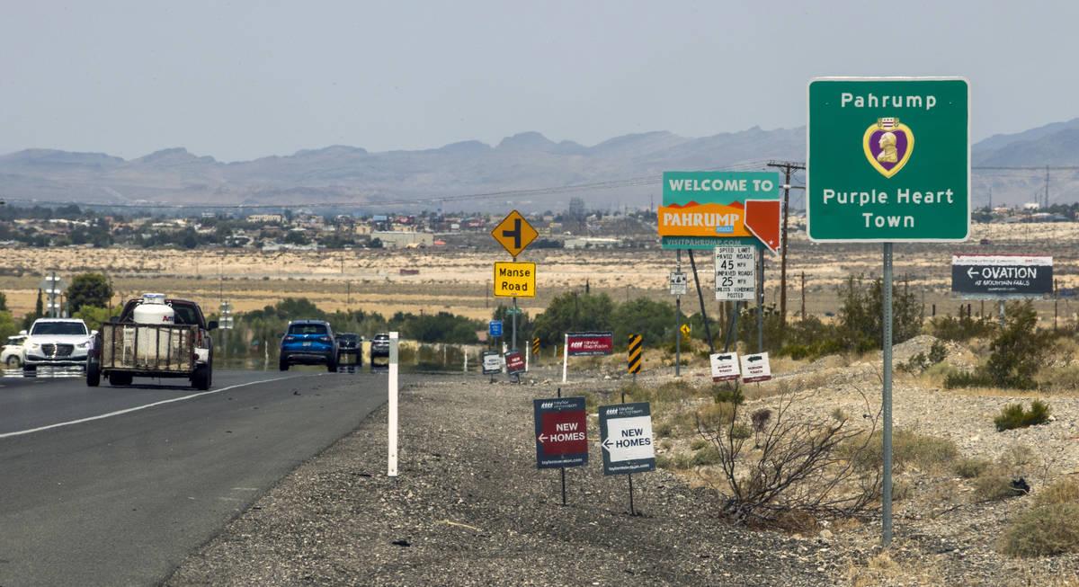 Tráfico en Pahrump, viernes 23 de julio de 2021. (L.E. Baskow/Las Vegas Review-Journal) @Left_ ...