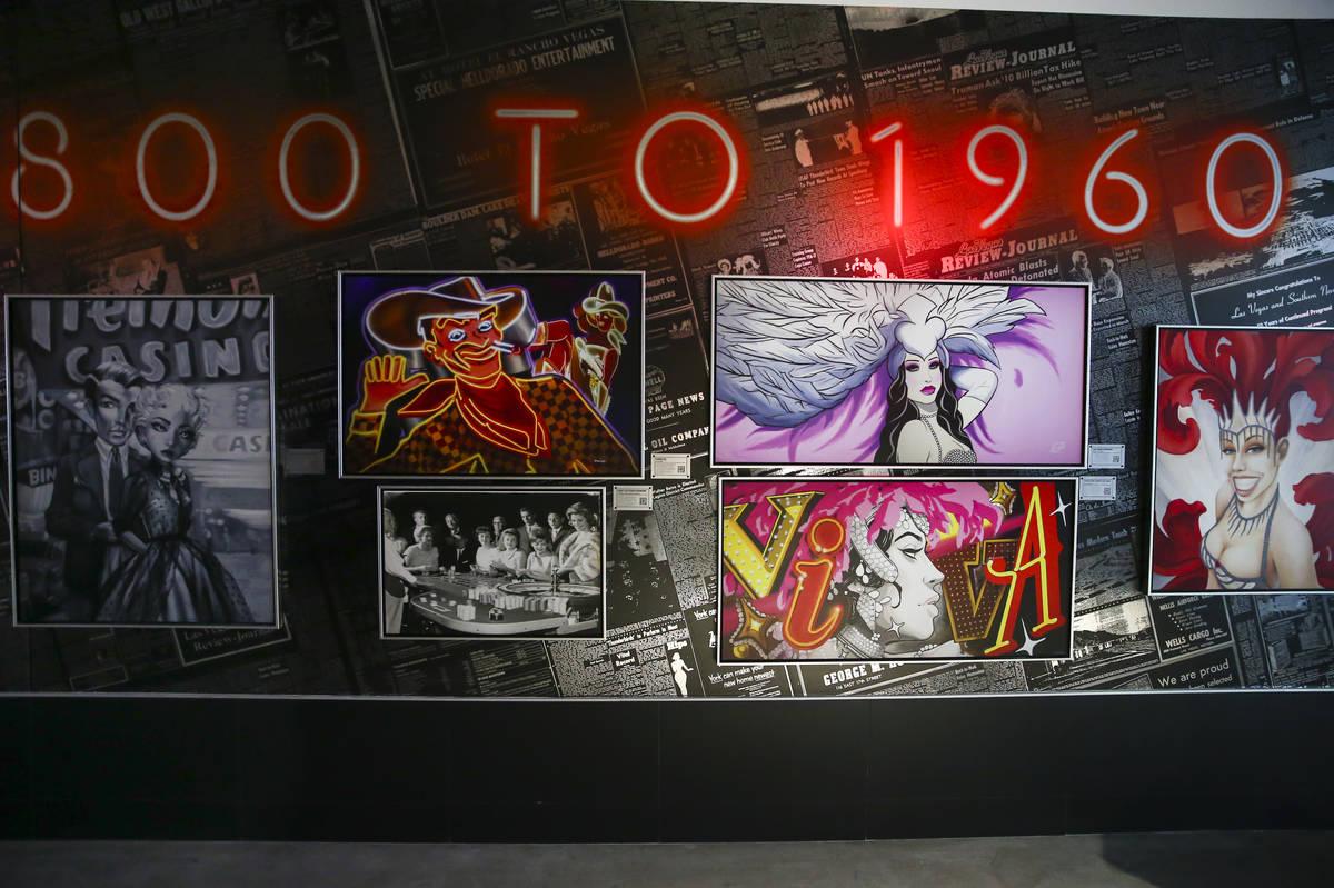 Una variedad de obras de arte se ve durante un recorrido por la colección de arte del Allegian ...