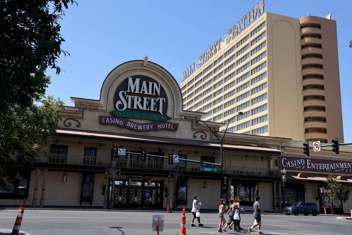 Main Street Station en el centro de Las Vegas el lunes 9 de agosto de 2021. El hotel-casino, qu ...
