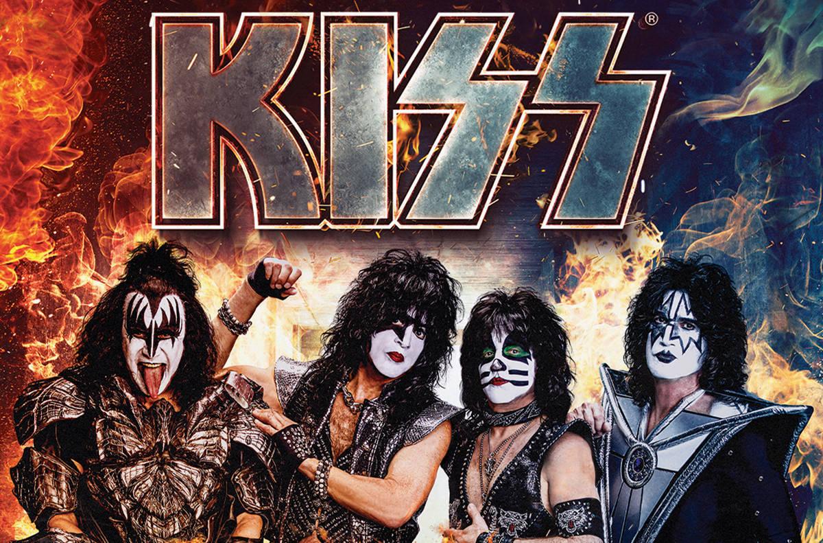 Kiss. [Foto cortesía, vía Kelly Frey / The Publicity Lab]
