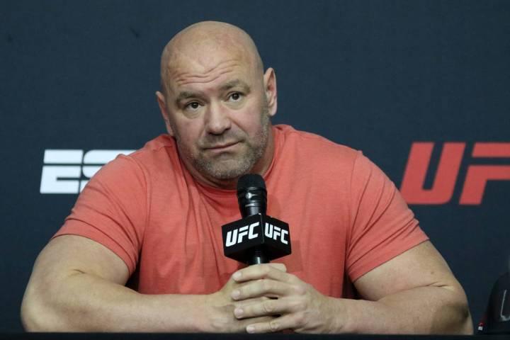 El presidente de la UFC, Dana White, el sábado 13 de junio de 2020 en Las Vegas. (Heidi Fang) ...