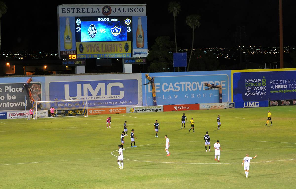 LA Galaxy II anotó en el último minuto el gol de la victoria y se lleva tres puntos de Las Ve ...