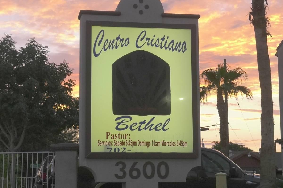 Centro Cristiano Bethel church in Las Vegas, seen on August 30, 2021. (James Schaeffer/Las Vega ...
