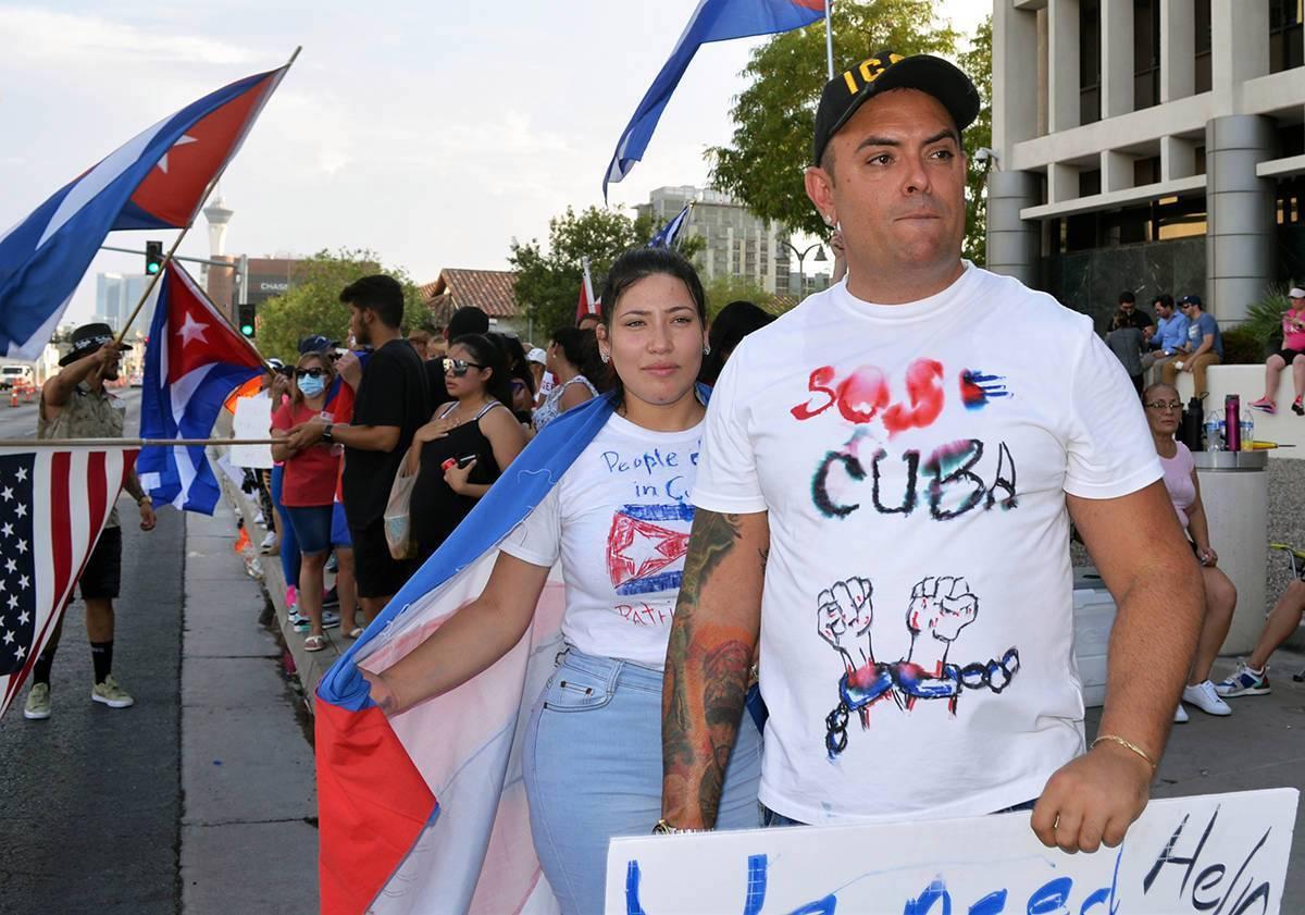 Archivo.- Miles de cubanos se lanzaron a las calles el domingo 11 de julio de 2021 en La Habana ...